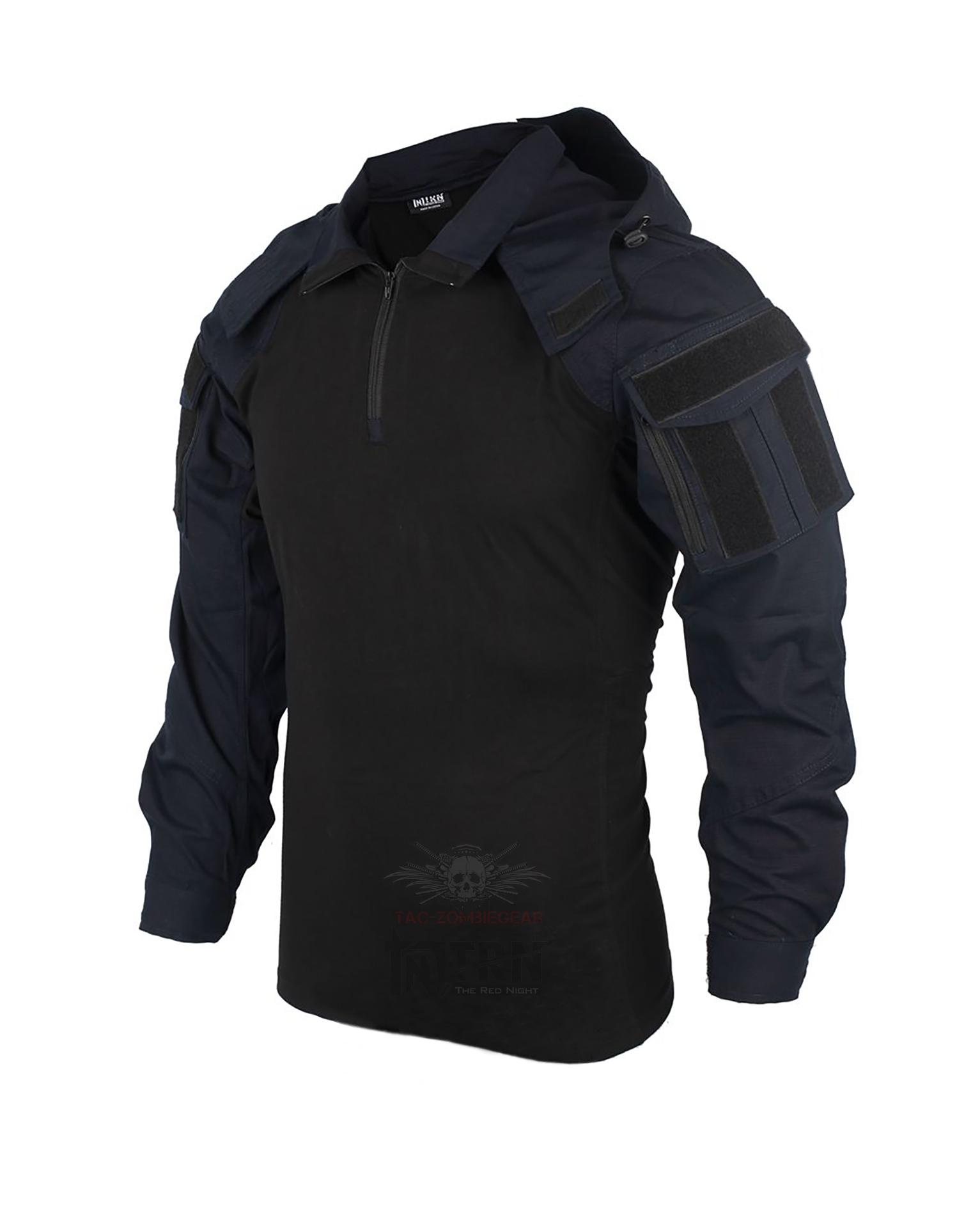 脱着可能 フード付きコンバットシャツ 2020モデル SP2 超安い フード付き カスタム 日本正規品 コンバットシャツ 男女兼用 ポリスブルー