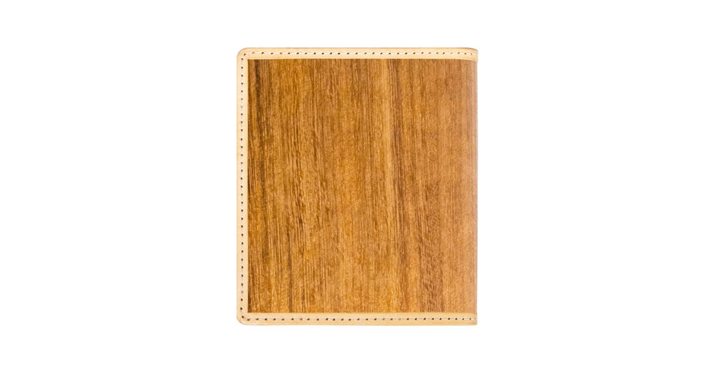 「PARSEC」二つ折り財布(樹革・WALNUT TEAK チーク )