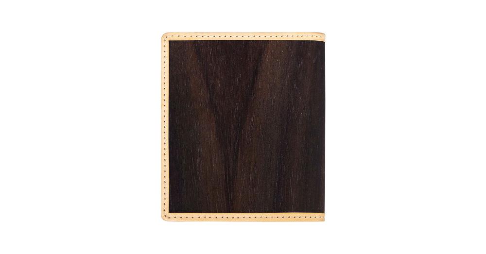 「PARSEC」二つ折り財布(樹革・WALNUT ROSEWOOD 紫檀 )
