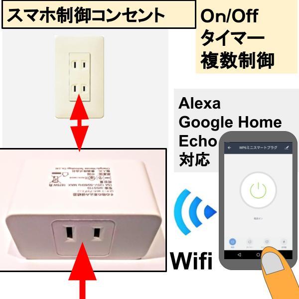 Alexa GoogleHome Echo対応 スマホ制御コンセントOn タイマー Wifi複数制御可 受注生産品 Off 期間限定の激安セール
