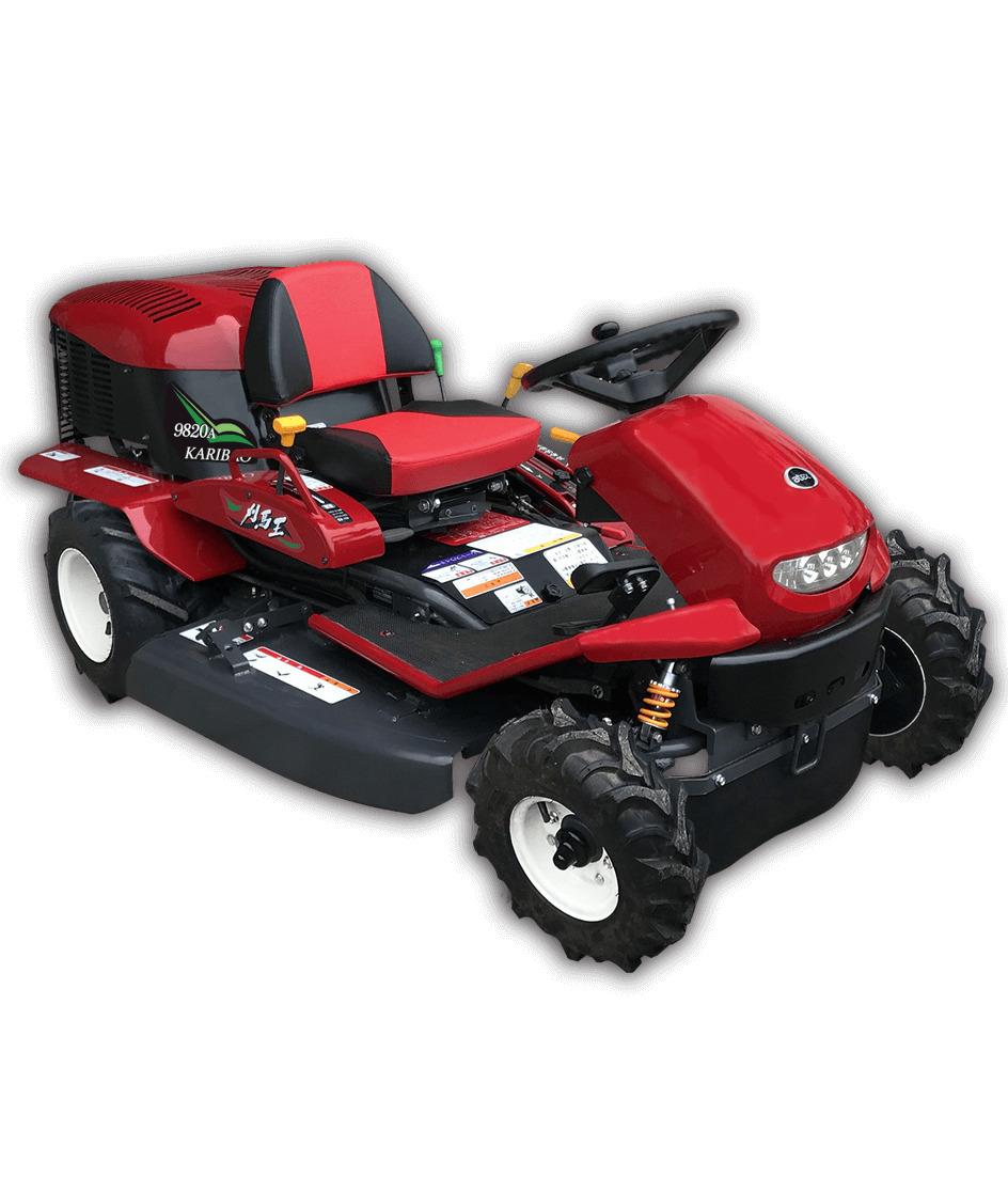アテックス 新製品 乗用草刈機 「刈馬王(カリバオー)」 R9820A 2WD