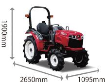 海外ブランド  20馬力トラクター【GS202MS4W】, フジミムラ 84732465