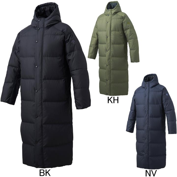 2018年秋冬モデル【デサント】フード付 スーパーロングダウンコート DMMMJC44 ベンチコート メンズ