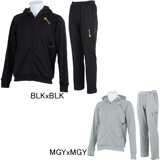 【SKINS】スキンズ スウェット フード付きジャケット・パンツ上下セット SAF3401/P フルジップパーカー ジャージ