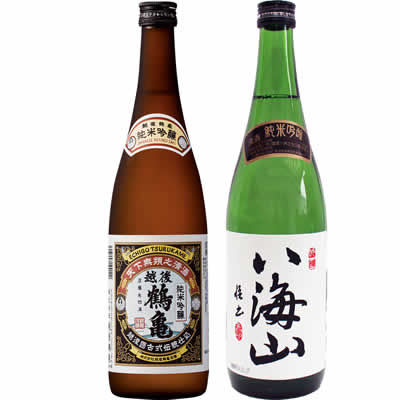 越後鶴亀 純米吟醸 720ml 八海山 純米吟醸 720ml 2本 日本酒飲み比べセット