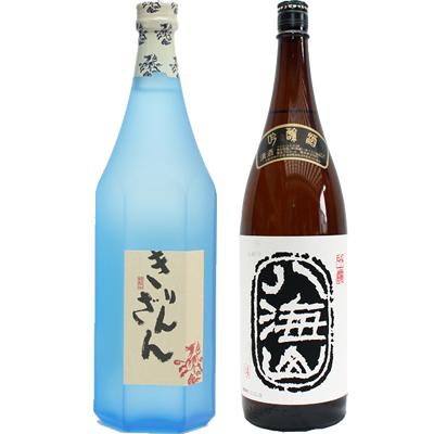 麒麟山 ブルーボトル 1800ml 八海山  吟醸 1800ml 2本セット 日本酒飲み比べセット