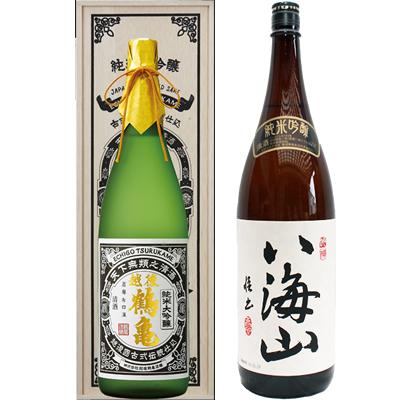 越後鶴亀 超特醸 1800ml 八海山  純米吟醸 1800ml 2本セット 日本酒飲み比べセット
