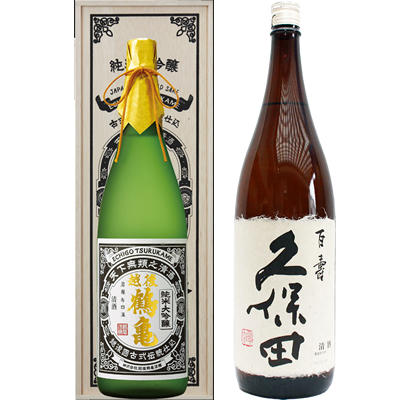 越後鶴亀 超特醸 1800ml 久保田 百寿 1800ml 2本セット 日本酒飲み比べセット