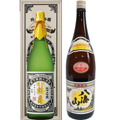越後鶴亀 超特醸 1800ml 八海山 清酒 1800ml 2本セット 日本酒飲み比べセット