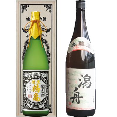 越後鶴亀 超特醸 1800ml 潟舟 本醸造 1800ml 2本セット 日本酒飲み比べセット