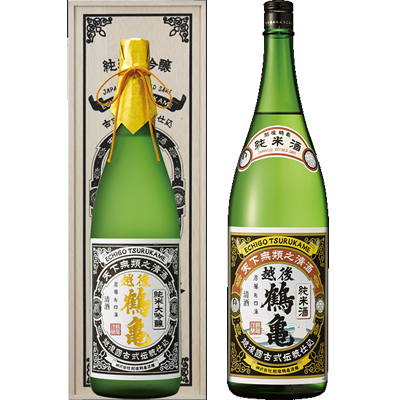 越後鶴亀 超特醸 1800ml 越後鶴亀 純米 1800ml 2本セット 日本酒飲み比べセット
