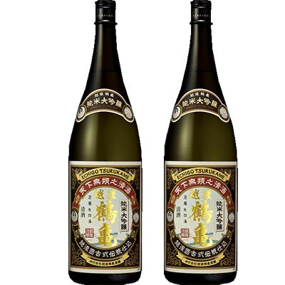 越後鶴亀 純米大吟醸 1800ml 2本セット 日本酒飲み比べセット