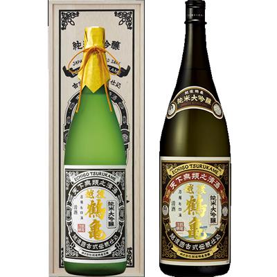 越後鶴亀 超特醸 1800ml 越後鶴亀 純米大吟醸 1800ml 2本セット 日本酒飲み比べセット
