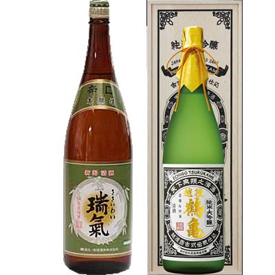笹祝 瑞氣  1800ml 越後鶴亀 超特醸 1800ml 2本セット 日本酒飲み比べセット