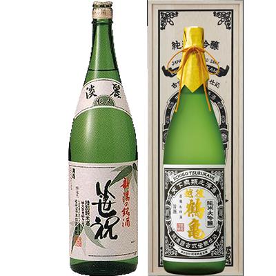 笹祝 淡麗純米 青竹 1800ml 越後鶴亀 超特醸 1800ml 2本セット 日本酒飲み比べセット