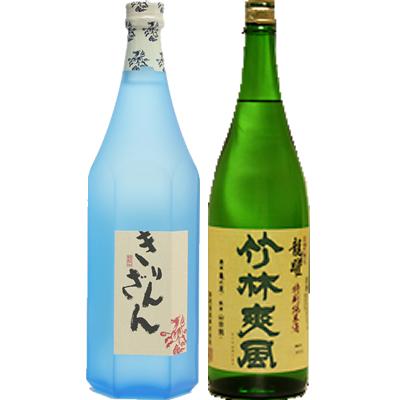 麒麟山 ブルーボトル 1800ml 竹林爽風 龍躍 1800ml 2本セット 日本酒飲み比べセット