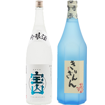 吟醸 一滴一涼 1800ml 麒麟山 ブルーボトル 1800ml 2本セット 日本酒飲み比べセット