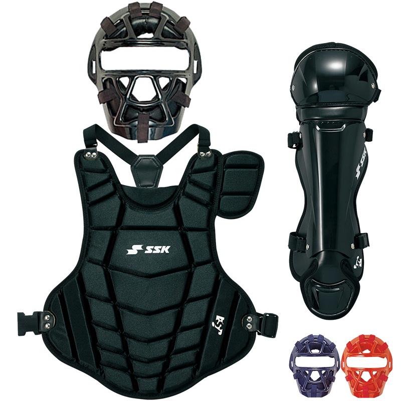 【SSK】エスエスケイ 少年ソフトボール用キャッチャー防具3点セット スタイリッシュ軽量モデル csmj3010s-cspj120-cslj120