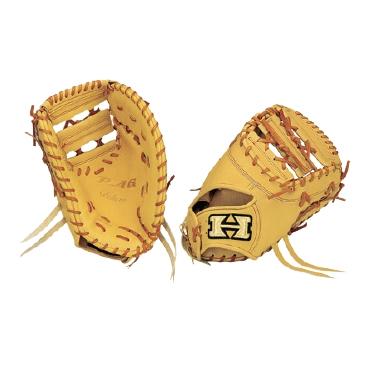 【Hi-GOLD】ハイゴールド 硬式ミット PAG デラックスシリーズ 一塁手用 PAGイエロー×タン pag-303f