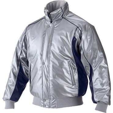 ★ 【asics】アシックス グランドコート 中綿入り ニューレイドレザー素材 Sグレー×ネイビー bag001-1050