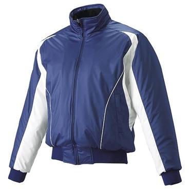 【SSK】エスエスケイ フロントフルジップ蓄熱グランドコート Dブルー×ホワイト×ホワイト bwg1002-6310w
