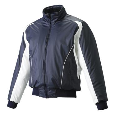 【SSK】エスエスケイ フロントフルジップ蓄熱グランドコート ネイビー×ホワイト×ホワイト bwg1002-7010w