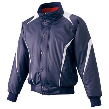 【SSK】エスエスケイ フロントフルジップ蓄熱グランドコート ネイビー×シルバーグレー bwg1007-7095
