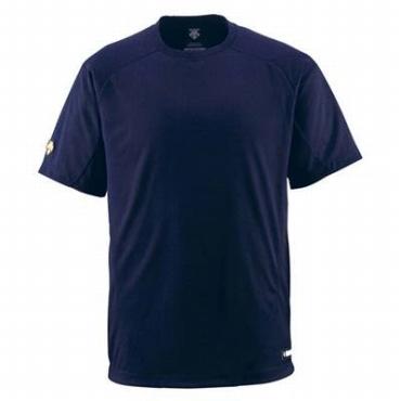 プロ球団から認められた素材 ランキングTOP5 DESCENTE デサント 少年用ベースボールシャツ Dネイビー 税込 jdb-200-dnvy メール便対応商品 Tネック