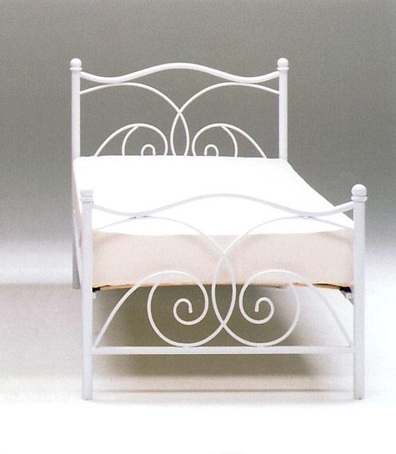 シングルベッド サリー2 ホワイト(フレームのみ)