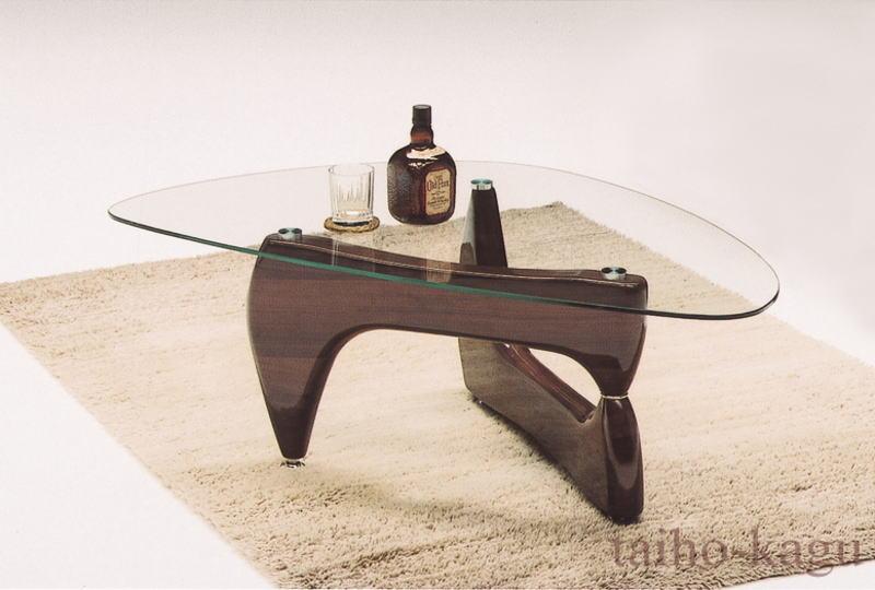 ガラステーブル リビングテーブル ノーバ (ブラウン)
