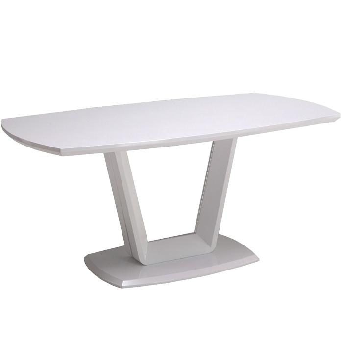 ダイニングテーブル 食卓テーブル 幅160cm ホワイト 白 鏡面 光沢 単品 4人掛け モダン シンプル 160幅 ダイニングテーブル単体