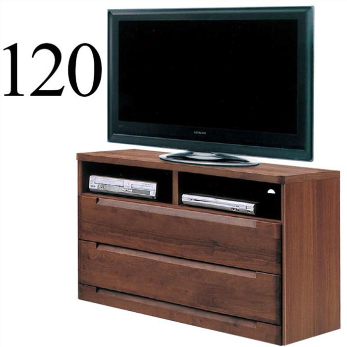 テレビボード リビングボード テレビチェスト 幅120cm ハイタイプ 完成品 アルダー無垢 リビング収納 北欧モダン 国産