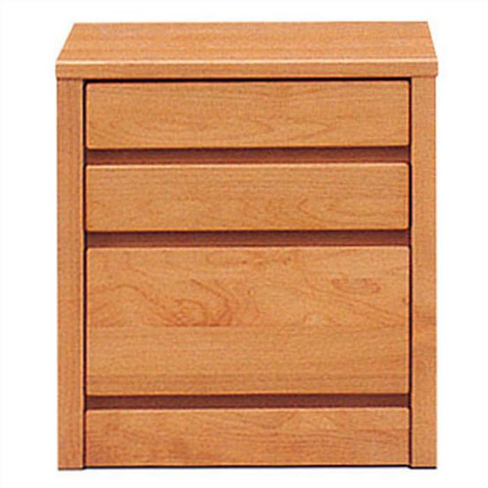 ミニチェスト 幅45cm 3段 完成品 スリムチェスト リビングチェスト 北欧家具 ローチェスト アルダー無垢 天然木 国産