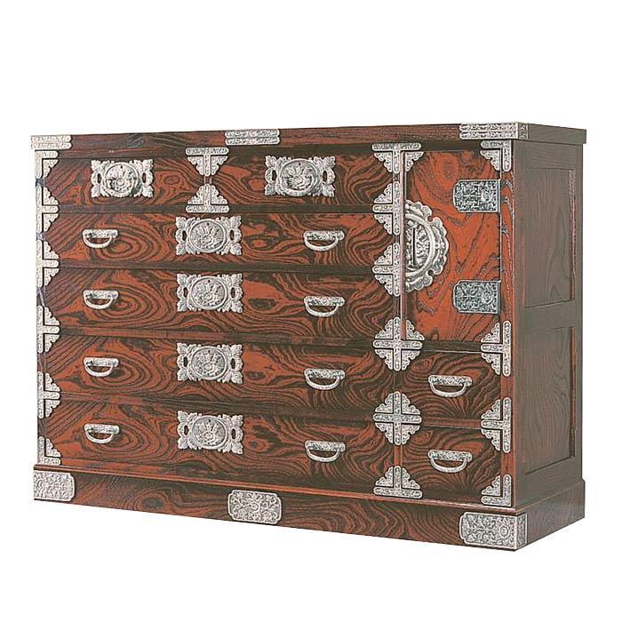 民芸箪笥 和たんす 和風 宝箪笥框造り 135cm整理箪笥 筑後民芸