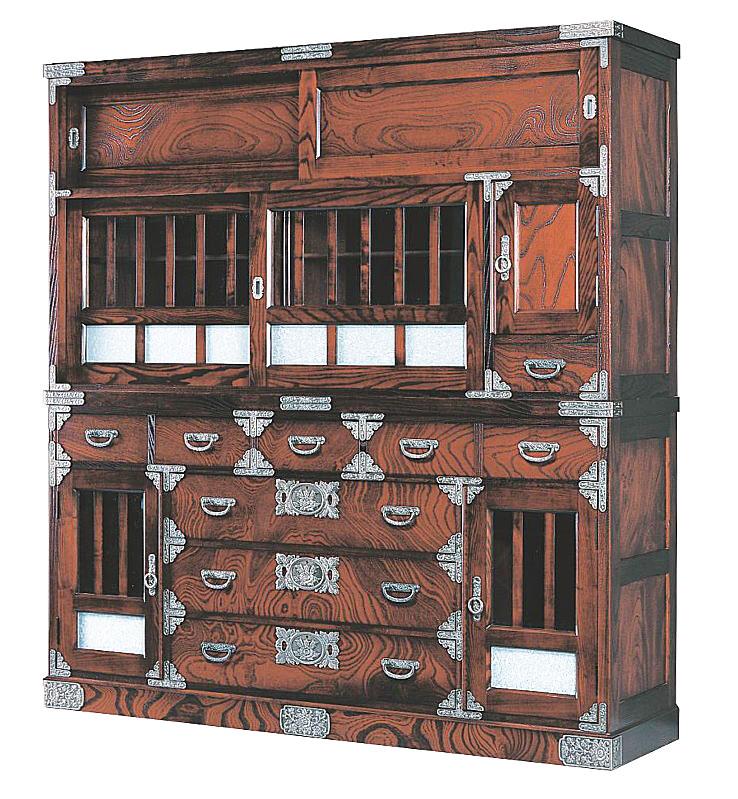 民芸箪笥 和たんす 和風 宝箪笥框造り 168cm水屋箪笥 筑後民芸
