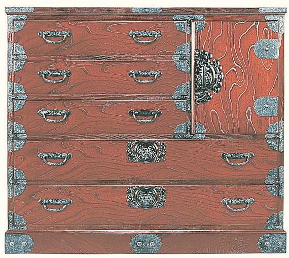民芸箪笥 和たんす 和風 105cm 整理箪笥 筑後民芸