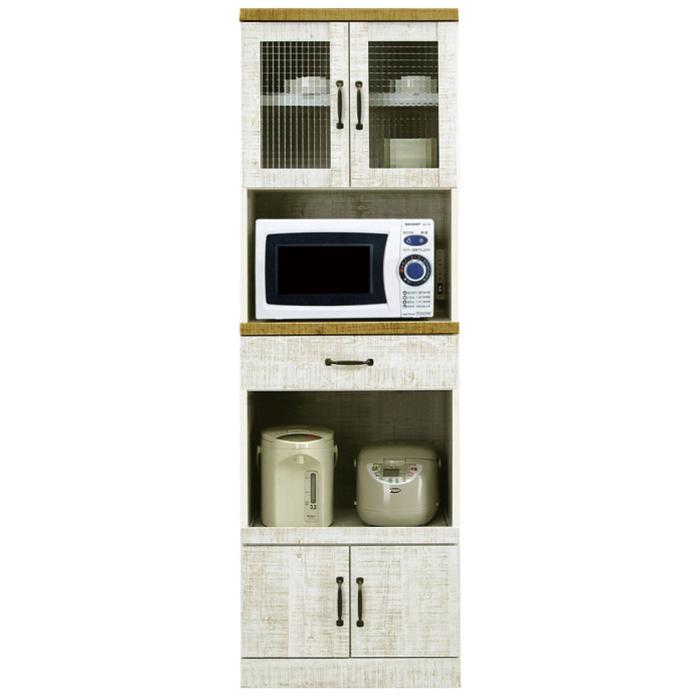 食器棚 レンジ台 完成品 幅60cm ダイニングボード レンジボード キッチン収納 日本製 木製