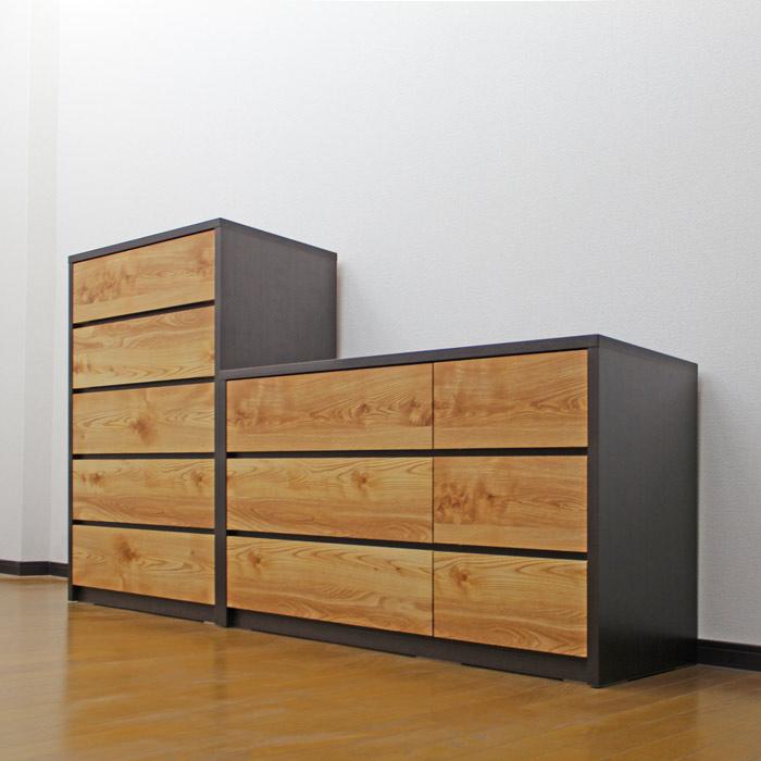 ローチェスト 北欧 完成品 幅120cm 3段 洋服収納 リビングチェスト 整理タンス 木製 木目調 箪笥 日本製