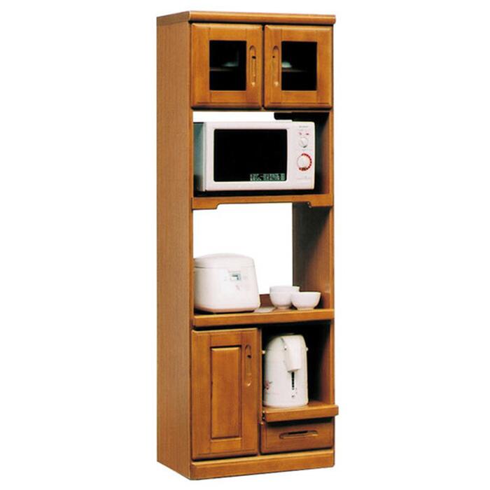 レンジ台 レンジボード 食器棚 完成品 幅60cm キッチン収納 スリム モダン 国産 ハイタイプ 高さ180cm コンセント付き