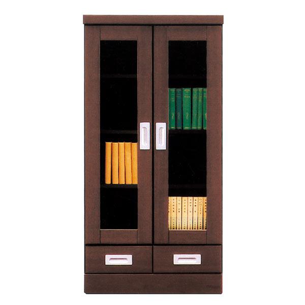 本棚 リビングボード 扉 完成品 幅60cm