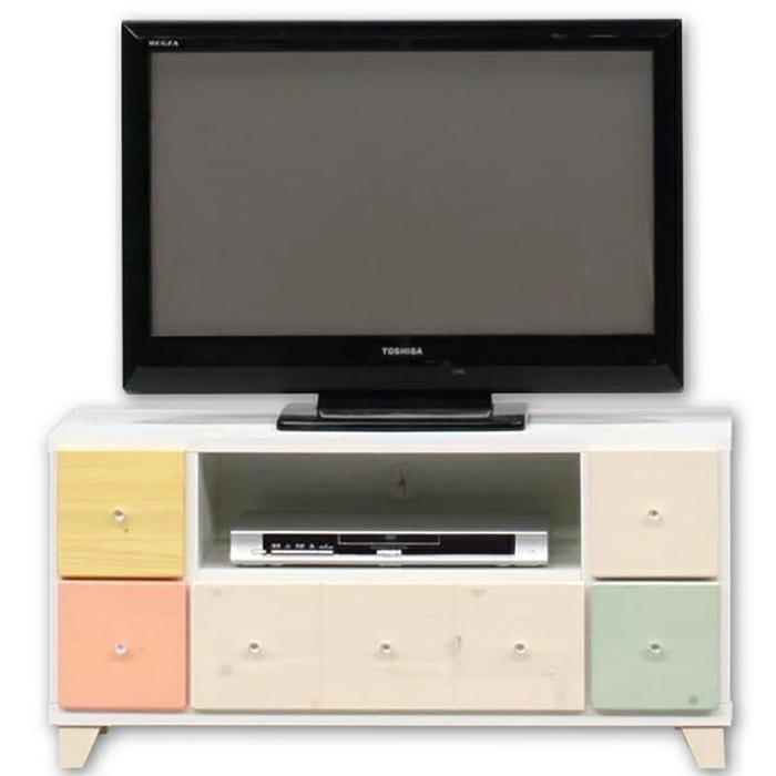 テレビボード ローボード リビングボード リビングチェスト 完成品 幅94cm 子供部屋 家電収納 TV台 日本製 カラフル