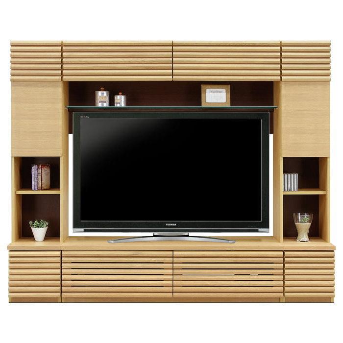 ハイタイプ テレビボード リビングボード 幅220cm 木製 無垢 モダン