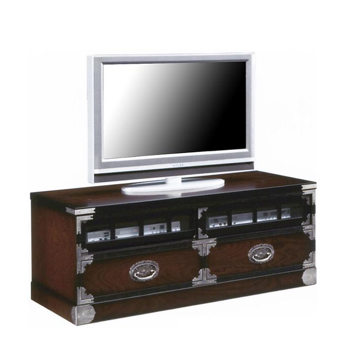 民芸箪笥 和たんす 和風 テレビボード 引き戸 118cm TVボード 三丸民芸