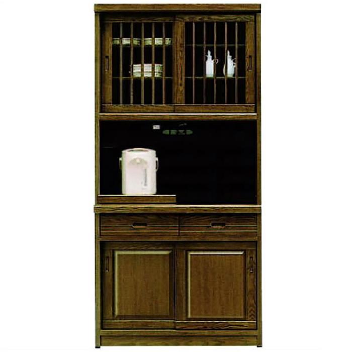 レンジ台 食器棚 完成品 幅95cm 和 和風