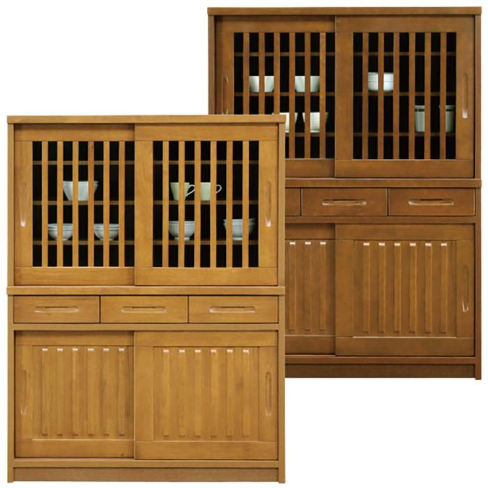 食器棚 完成品 和風 引き戸 幅120cm
