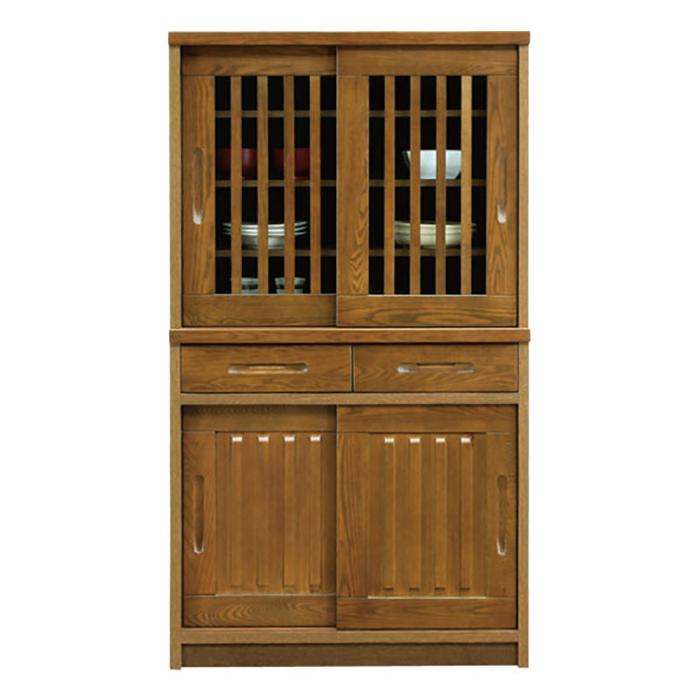 食器棚 和風 完成品 幅90cm 高さ160cm
