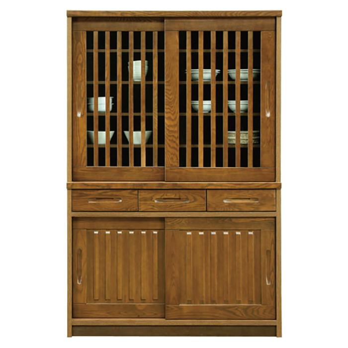 食器棚 和風 完成品 幅120cm
