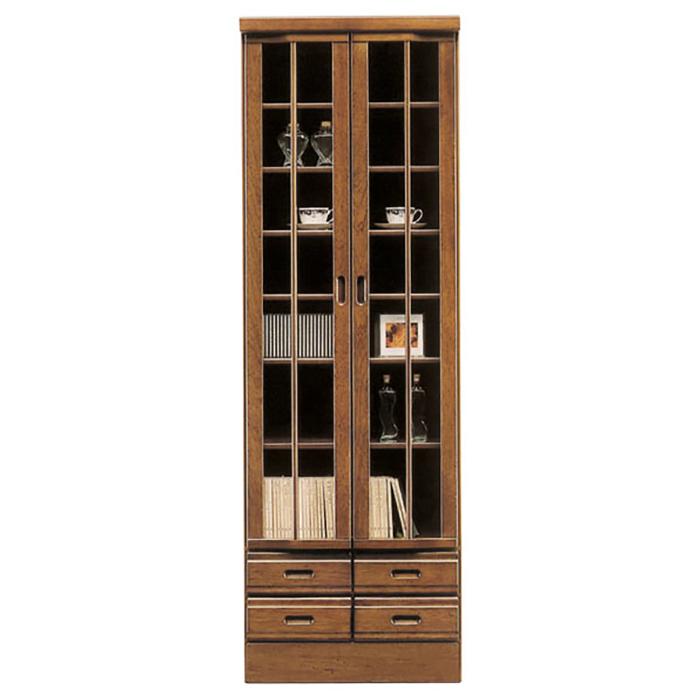 本棚 サイドボード リビングボード ガラス扉 書棚 ブックシェルフ 和風 和室 畳 書架 書斎 書庫 デッドスペース Japanese style
