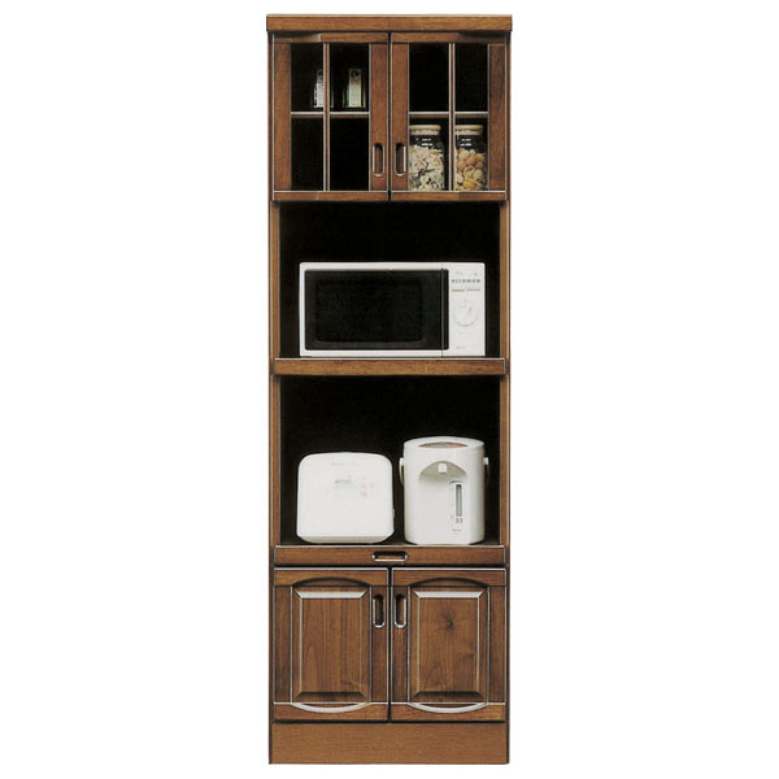 レンジ台 幅60cm 完成品 レンジボード キッチン収納 食器棚 キッチンボード 木製 和モダン 和風 スリム ハイタイプ コンセント付き