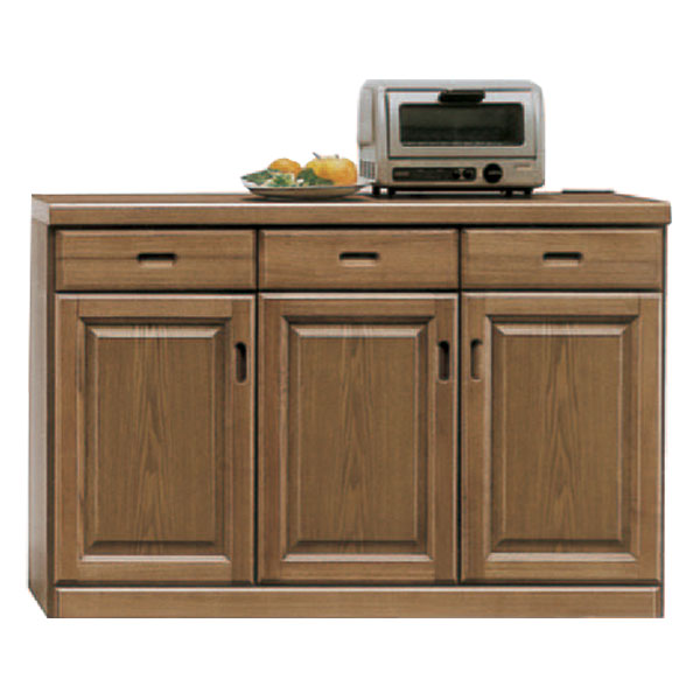 キッチンカウンター 完成品 幅120cm 和風